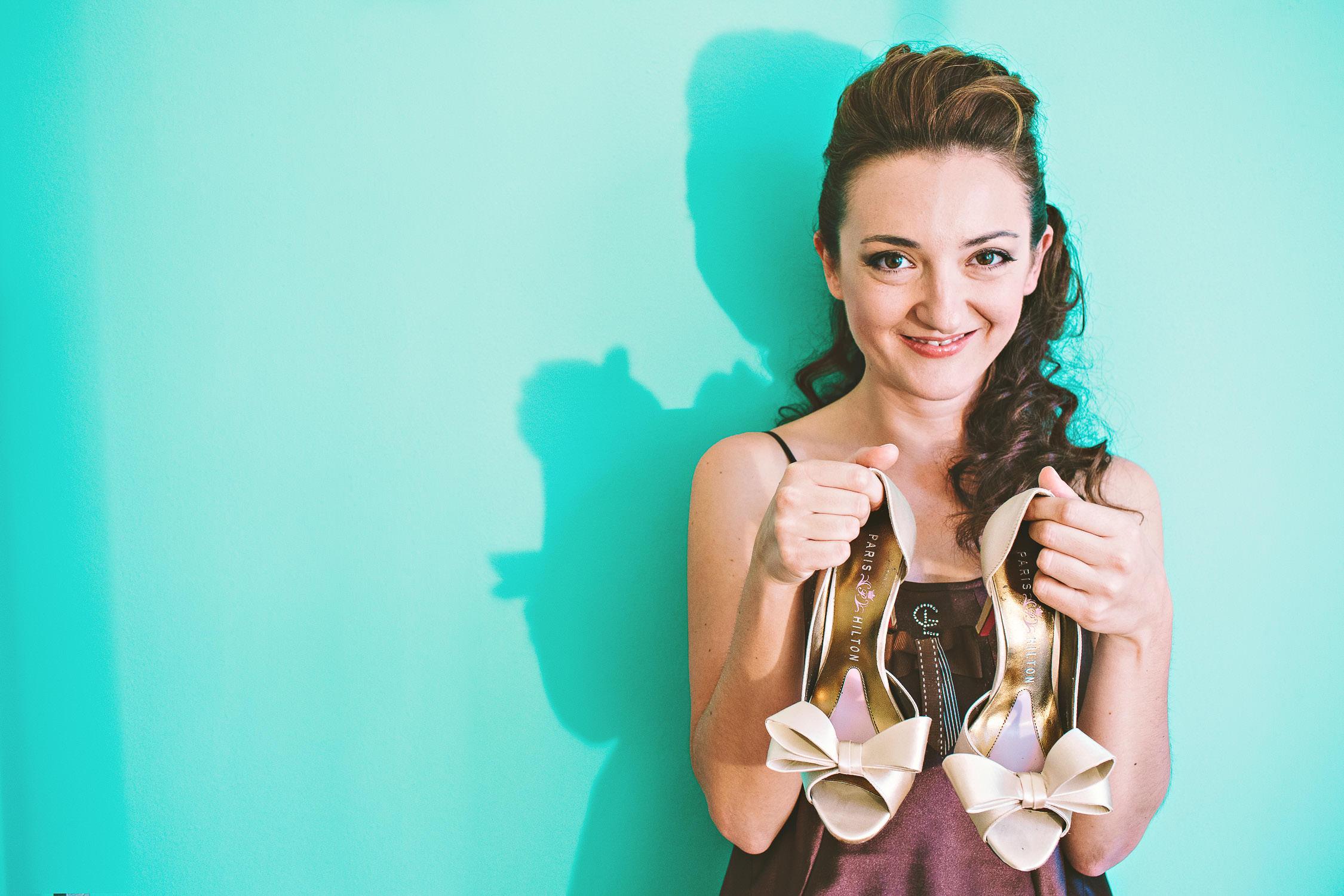 wedding shoes portrait